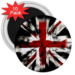 British Flag 3  Magnets (10 Pack)  by Nexatart