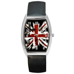 British Flag Barrel Style Metal Watch by Nexatart