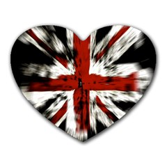 British Flag Heart Mousepads