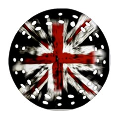 British Flag Ornament (round Filigree) by Nexatart