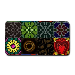 Digitally Created Abstract Patchwork Collage Pattern Medium Bar Mats