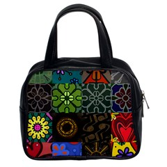 Digitally Created Abstract Patchwork Collage Pattern Classic Handbags (2 Sides) by Nexatart