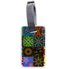 Digitally Created Abstract Patchwork Collage Pattern Luggage Tags (one Side)  by Nexatart