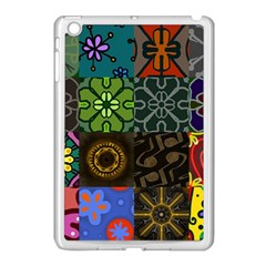 Digitally Created Abstract Patchwork Collage Pattern Apple Ipad Mini Case (white) by Nexatart