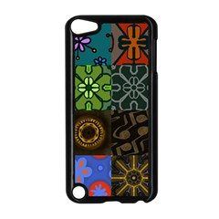 Digitally Created Abstract Patchwork Collage Pattern Apple Ipod Touch 5 Case (black) by Nexatart