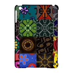 Digitally Created Abstract Patchwork Collage Pattern Apple Ipad Mini Hardshell Case (compatible With Smart Cover) by Nexatart