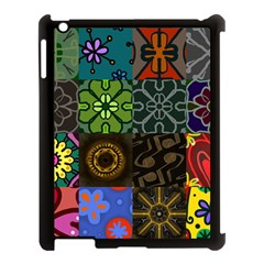 Digitally Created Abstract Patchwork Collage Pattern Apple Ipad 3/4 Case (black) by Nexatart