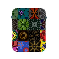 Digitally Created Abstract Patchwork Collage Pattern Apple Ipad 2/3/4 Protective Soft Cases by Nexatart