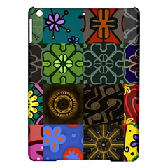 Digitally Created Abstract Patchwork Collage Pattern Ipad Air Hardshell Cases by Nexatart
