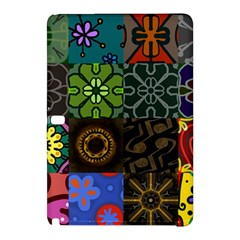 Digitally Created Abstract Patchwork Collage Pattern Samsung Galaxy Tab Pro 10 1 Hardshell Case