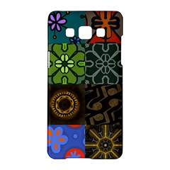 Digitally Created Abstract Patchwork Collage Pattern Samsung Galaxy A5 Hardshell Case