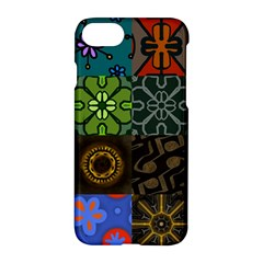 Digitally Created Abstract Patchwork Collage Pattern Apple Iphone 7 Hardshell Case by Nexatart
