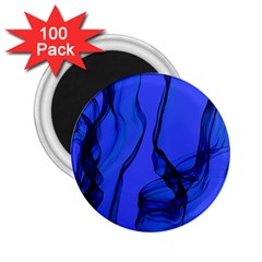 Blue Velvet Ribbon Background 2 25  Magnets (100 Pack)  by Nexatart