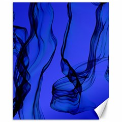 Blue Velvet Ribbon Background Canvas 16  X 20   by Nexatart