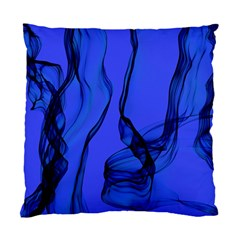 Blue Velvet Ribbon Background Standard Cushion Case (two Sides) by Nexatart