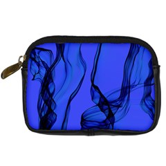 Blue Velvet Ribbon Background Digital Camera Cases by Nexatart