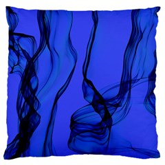 Blue Velvet Ribbon Background Large Cushion Case (one Side) by Nexatart