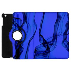 Blue Velvet Ribbon Background Apple Ipad Mini Flip 360 Case by Nexatart