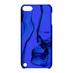 Blue Velvet Ribbon Background Apple Ipod Touch 5 Hardshell Case With Stand by Nexatart