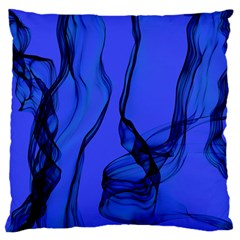 Blue Velvet Ribbon Background Standard Flano Cushion Case (two Sides) by Nexatart