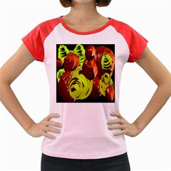Neutral Abstract Picture Sweet Shit Confectioner Women s Cap Sleeve T Shirt by Nexatart