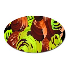 Neutral Abstract Picture Sweet Shit Confectioner Oval Magnet by Nexatart