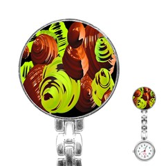 Neutral Abstract Picture Sweet Shit Confectioner Stainless Steel Nurses Watch by Nexatart