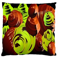 Neutral Abstract Picture Sweet Shit Confectioner Large Flano Cushion Case (two Sides) by Nexatart