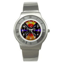 Diamond Manufacture Stainless Steel Watch by Nexatart