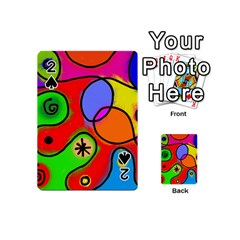 Digitally Painted Patchwork Shapes With Bold Colours Playing Cards 54 (mini)  by Nexatart