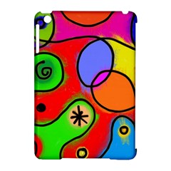 Digitally Painted Patchwork Shapes With Bold Colours Apple Ipad Mini Hardshell Case (compatible With Smart Cover) by Nexatart