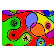 Digitally Painted Patchwork Shapes With Bold Colours Samsung Galaxy Tab 8 9  P7300 Flip Case by Nexatart