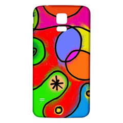 Digitally Painted Patchwork Shapes With Bold Colours Samsung Galaxy S5 Back Case (white) by Nexatart