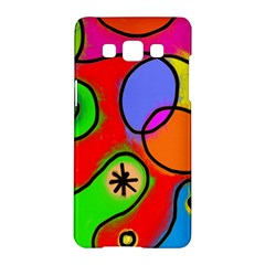 Digitally Painted Patchwork Shapes With Bold Colours Samsung Galaxy A5 Hardshell Case  by Nexatart