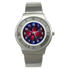 Color Fractal Pattern Stainless Steel Watch