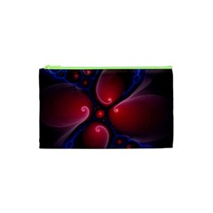 Color Fractal Pattern Cosmetic Bag (xs) by Nexatart