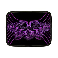 Beautiful Pink Lovely Image In Pink On Black Netbook Case (small)  by Nexatart