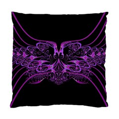 Beautiful Pink Lovely Image In Pink On Black Standard Cushion Case (two Sides) by Nexatart