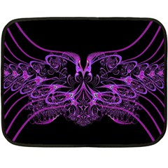 Beautiful Pink Lovely Image In Pink On Black Double Sided Fleece Blanket (mini)