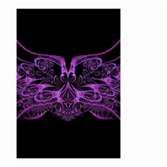 Beautiful Pink Lovely Image In Pink On Black Small Garden Flag (two Sides) by Nexatart