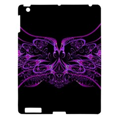 Beautiful Pink Lovely Image In Pink On Black Apple Ipad 3/4 Hardshell Case by Nexatart