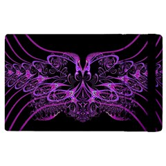 Beautiful Pink Lovely Image In Pink On Black Apple Ipad 3/4 Flip Case by Nexatart