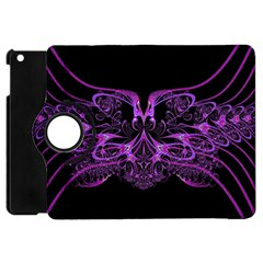 Beautiful Pink Lovely Image In Pink On Black Apple Ipad Mini Flip 360 Case by Nexatart