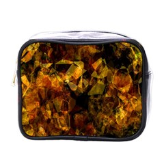 Autumn Colors In An Abstract Seamless Background Mini Toiletries Bags by Nexatart