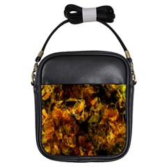 Autumn Colors In An Abstract Seamless Background Girls Sling Bags by Nexatart