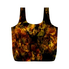 Autumn Colors In An Abstract Seamless Background Full Print Recycle Bags (m)  by Nexatart