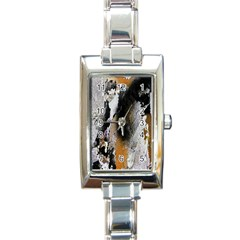 Abstract Graffiti Background Rectangle Italian Charm Watch by Nexatart