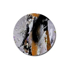 Abstract Graffiti Background Rubber Coaster (round)  by Nexatart