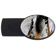Abstract Graffiti Background Usb Flash Drive Oval (2 Gb) by Nexatart