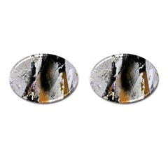 Abstract Graffiti Background Cufflinks (oval) by Nexatart